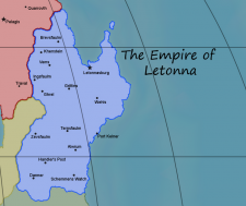 Location of Letonna